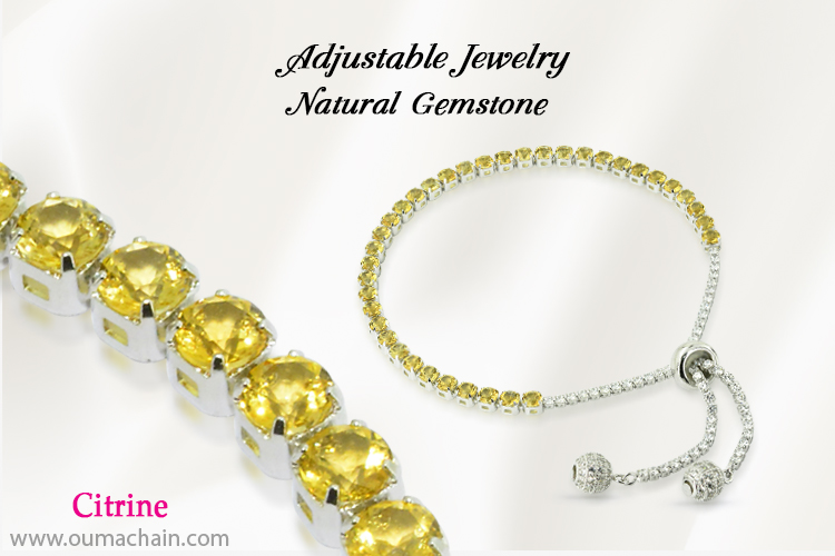 Adjustable Jewellery Natural Citrine