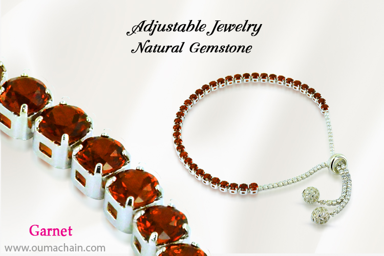 Adjustable Jewellery Natural Garnet