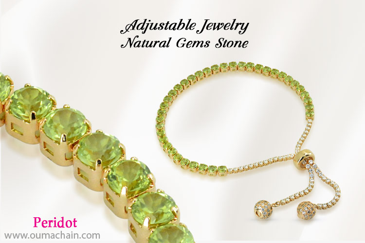 Adjustable Jewellery Natural Peridot