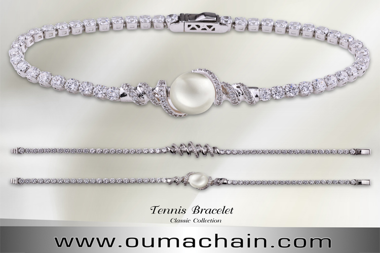 Natural Pearl Tennis Bracelet