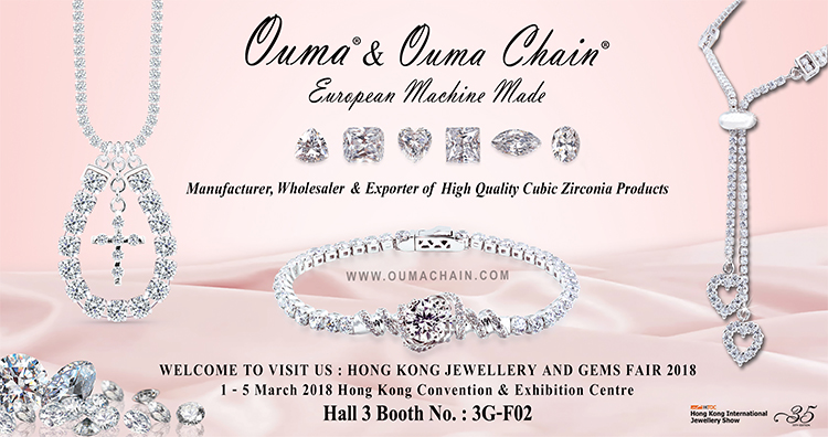 WELCOME TO VISIT US : HONG KONG JEWELLERY AND GEMS FAIR 2018